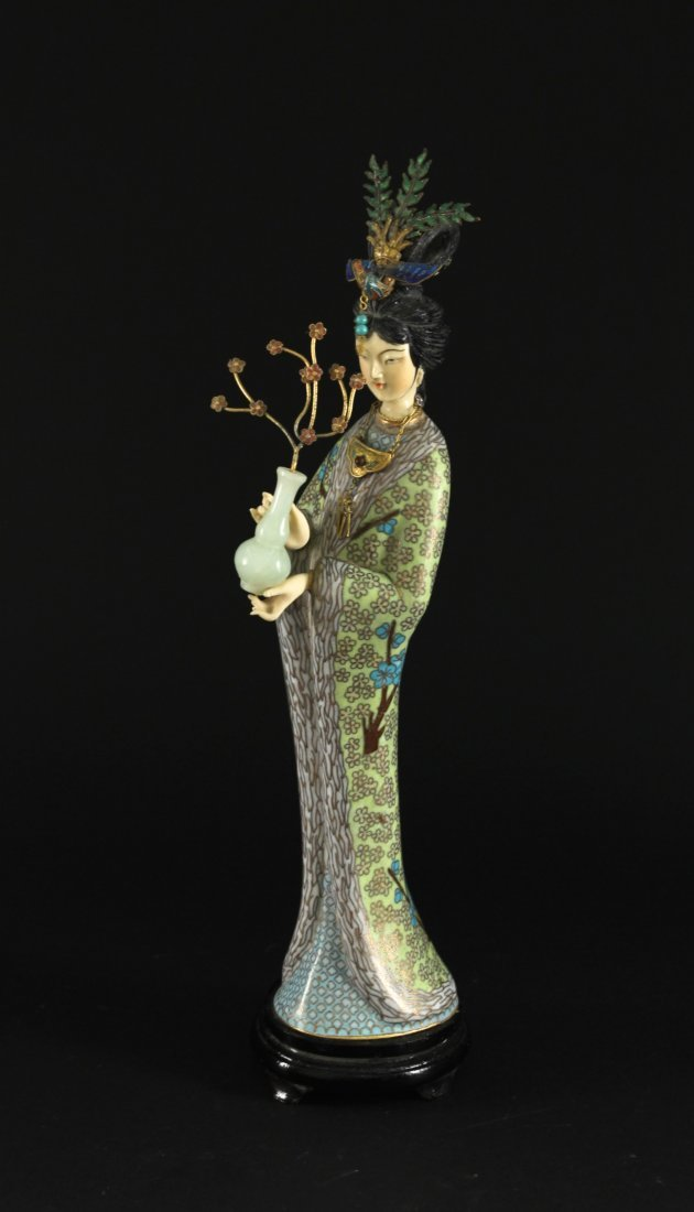 Cloisonne Lady Decorative Item