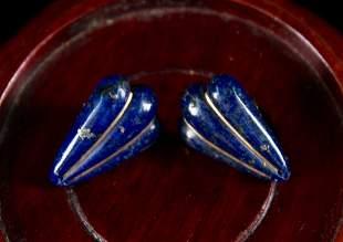 Pair of Lapis Lazuli Earring