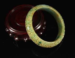 Fine Jadeite Bracelet Qing Dynasty Period