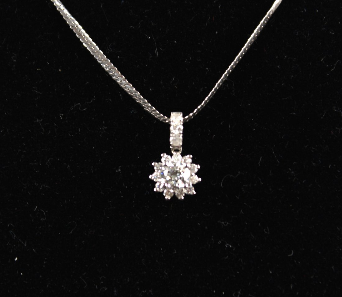 Diamond Platinum Necklace - 2