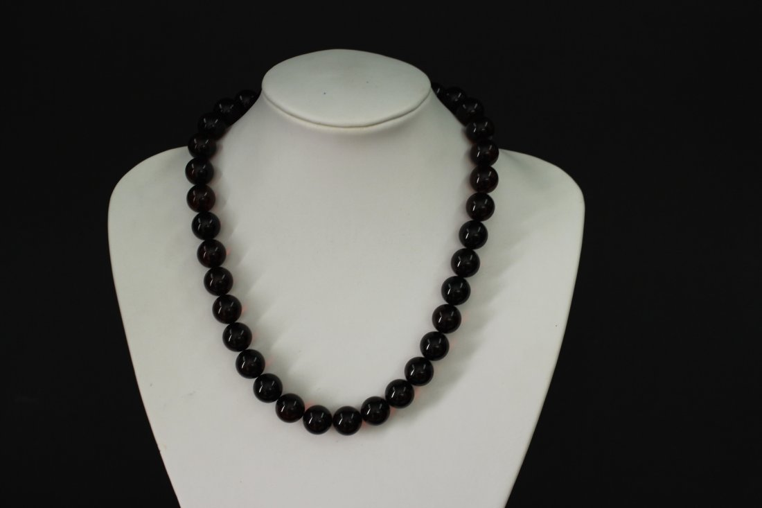Blood Amber Necklace