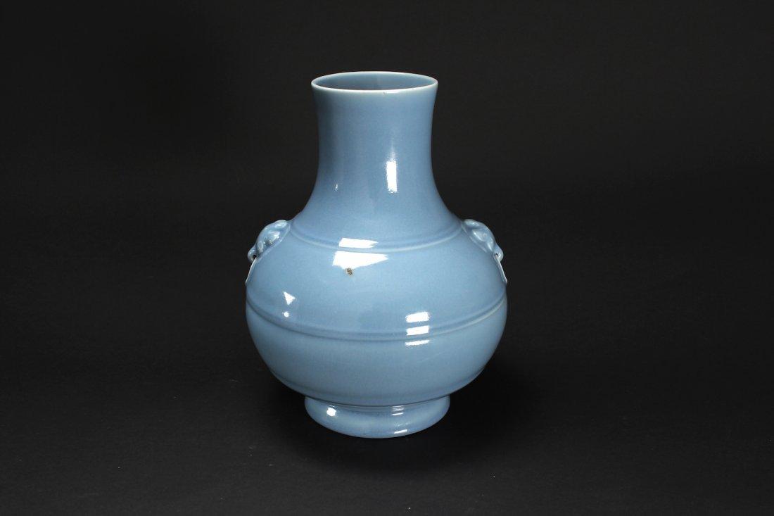 Purple-Splashed Pale Blue Glaze Vase Yongzheng Period