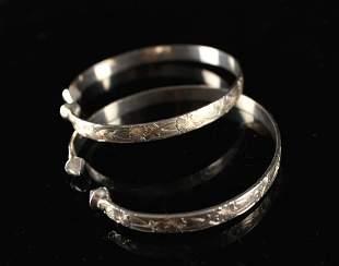 Pair of Silver Bracelet