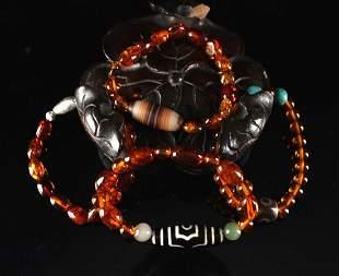 Four Pieces of Amber Bracelet