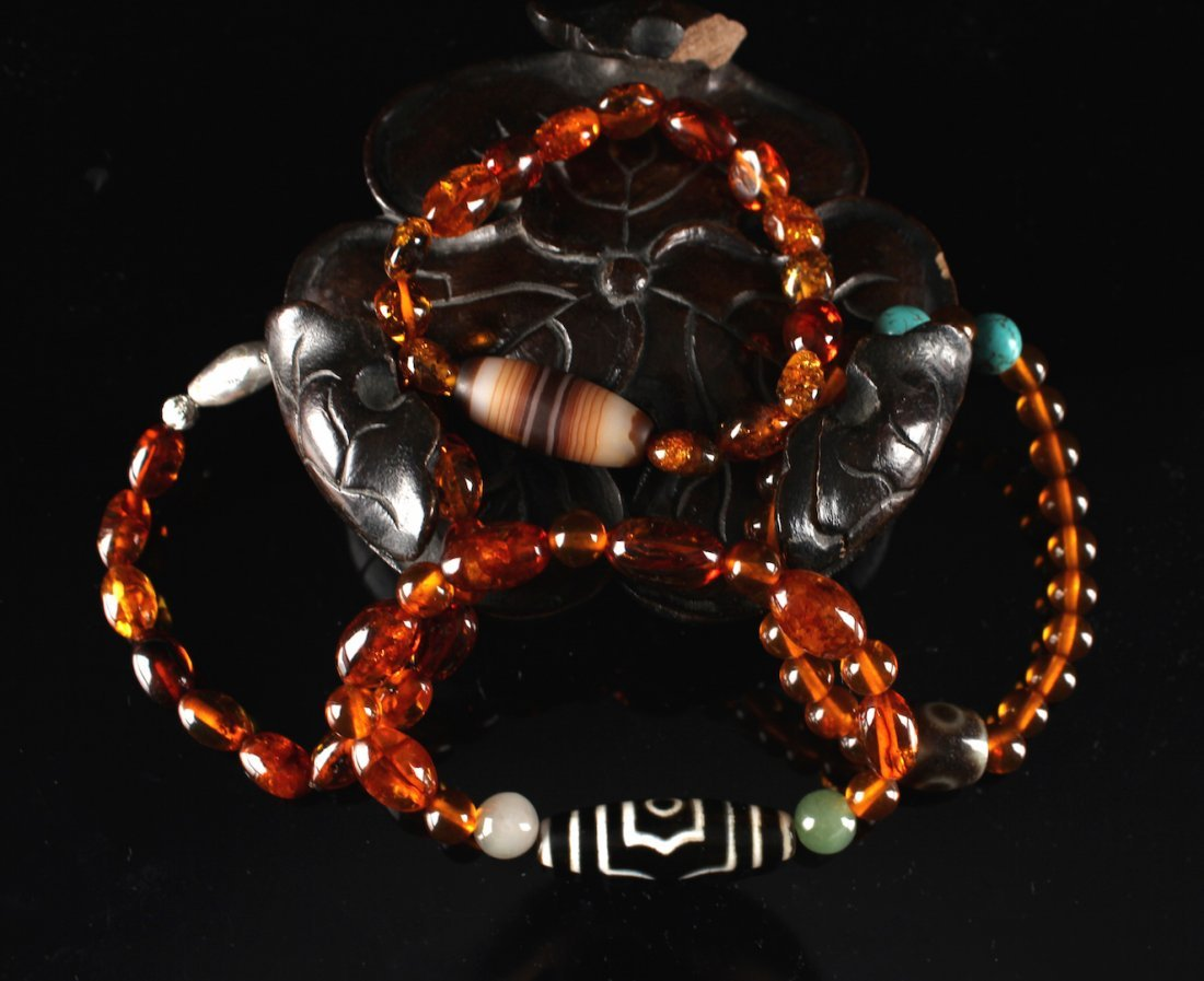 Four Pieces of Amber Bracelet