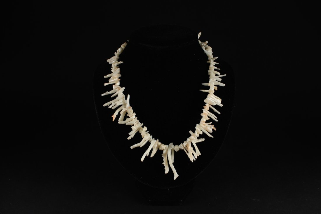 White Color Coral Branch Necklace