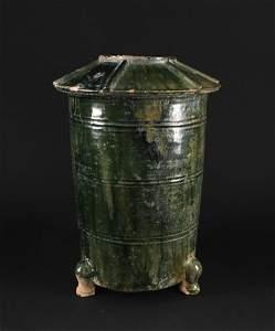 Green Glaze Earthenware Burial Object Barn Han Dynasty
