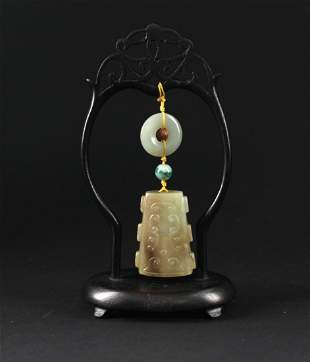 He-Tian Jade Ring and Pendant Ming Dynasty Period