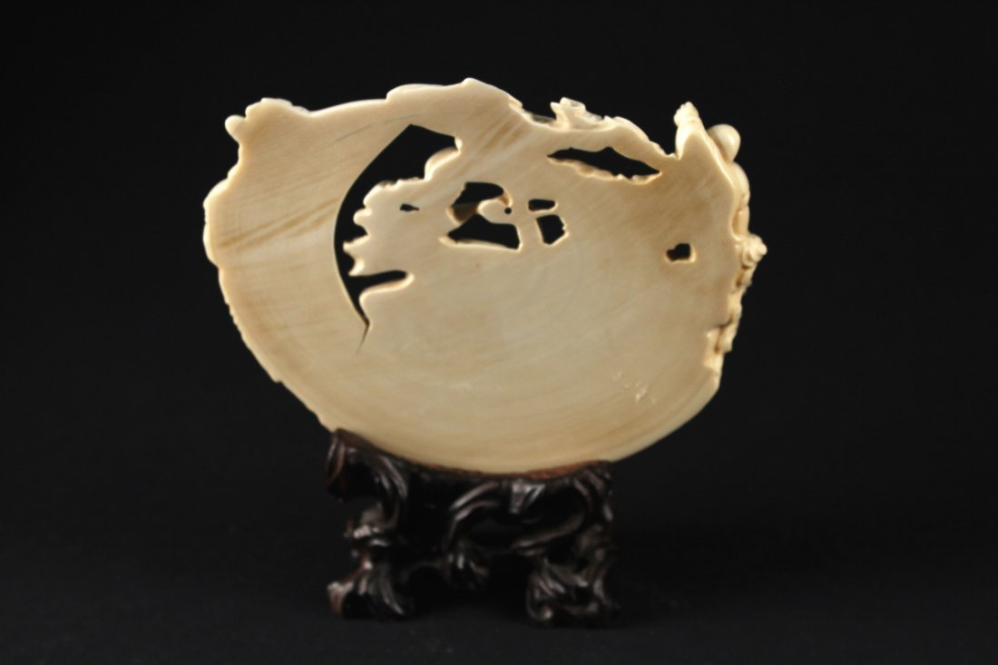 Japanese Mammoth Ivory Carved Seven Lucky Gods Item - 2