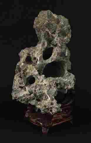 White Lingbi Stone Decorative Item