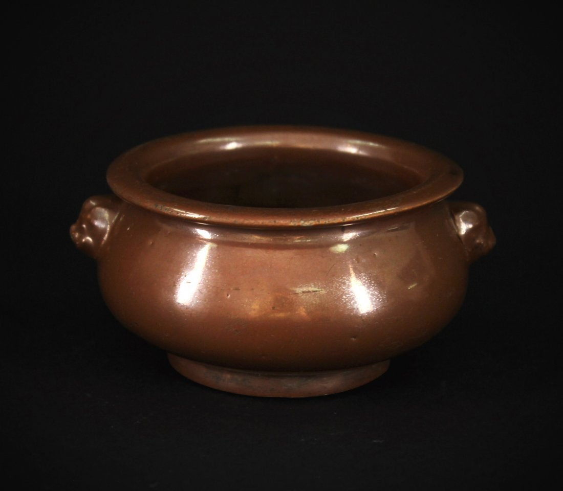 Brown Glaze Censer early of the Qing Dynasty Period