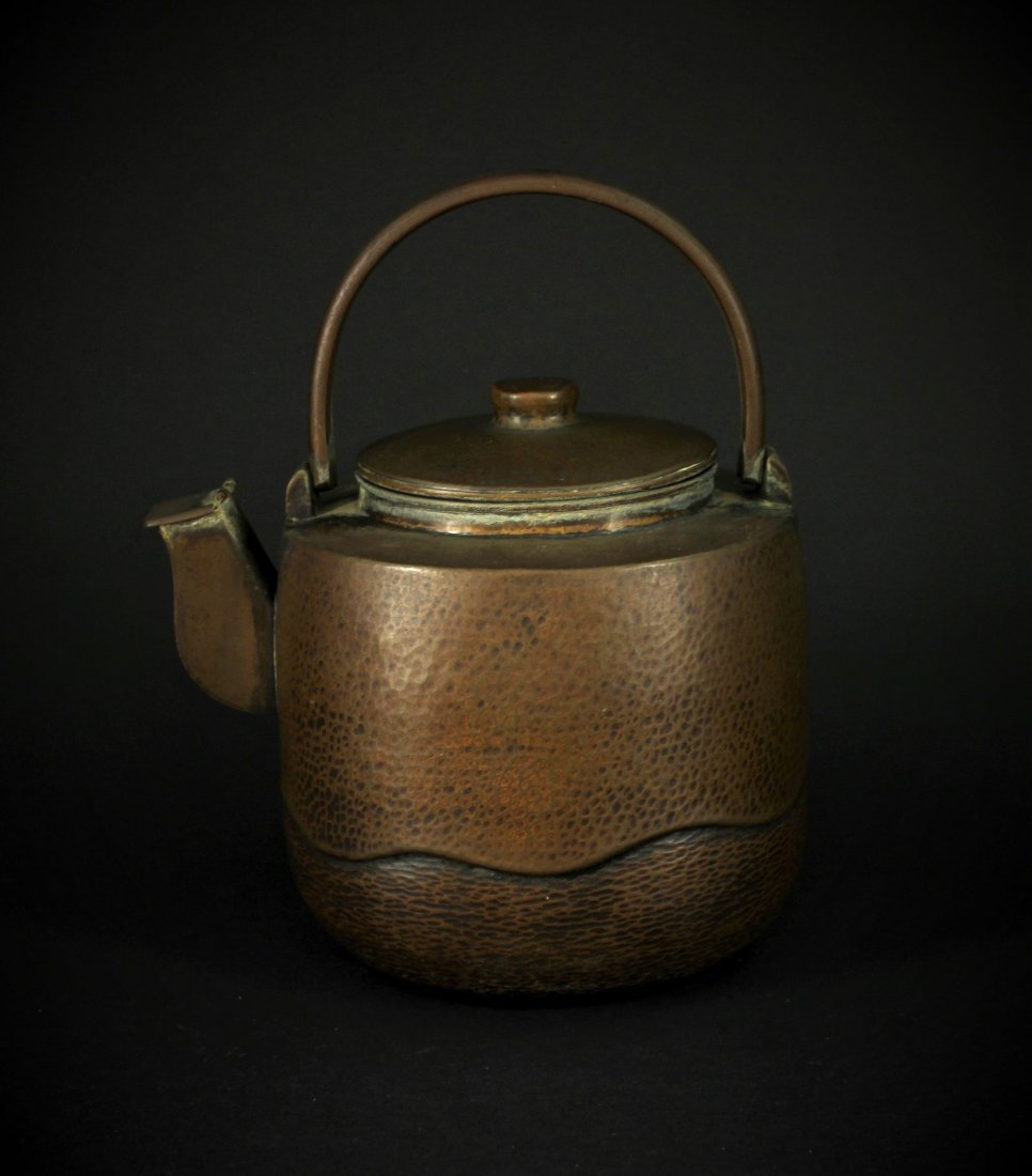 Japanese Copper Manual Teapot Early 20th century Period