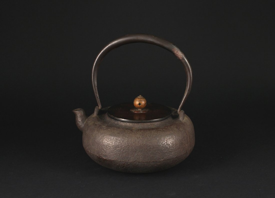 Japanese Iron Manual Teapot 19th century Period