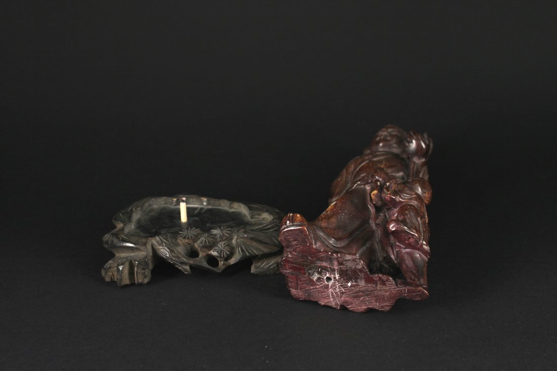 Shoushan Stone Carved with a Lady Decorative Item - 4