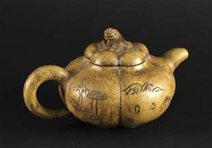 Zi-sha Pumpkin Shape Teapot