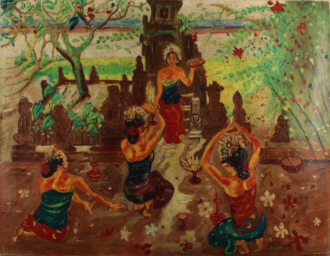 J. Le Mayeur Oil Painting on Canvas