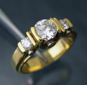 Custom Diamond Ring Set In 14k Gold & Platinum