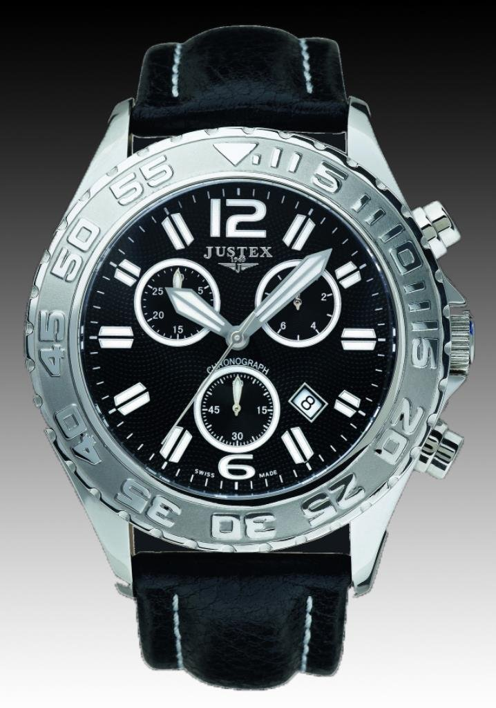 Justex Switor Chrono Watch Leather Band - Gent's