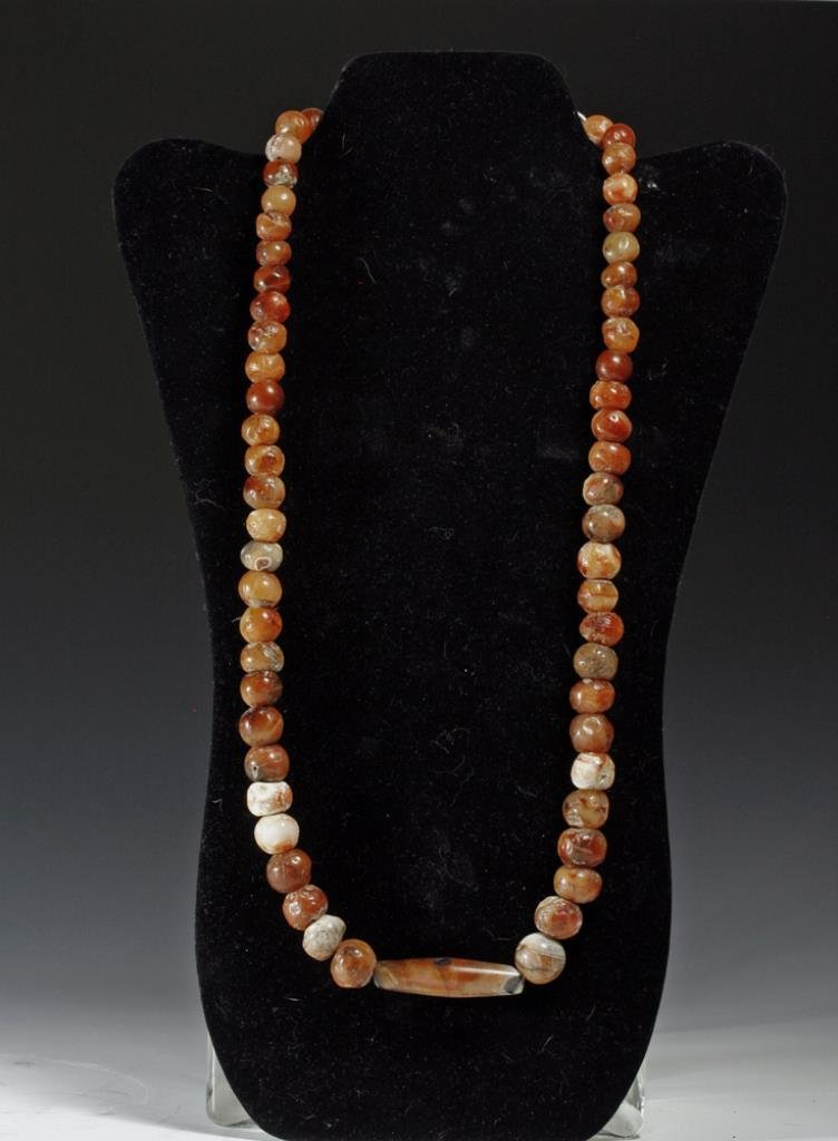 Published Ancient Chinese Carnelian Necklace