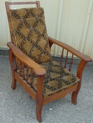5: child's oak Morris chair