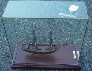 Paul Hitchcock cased ship model