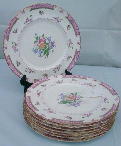 7: Royal Doulton Lowestoft plates