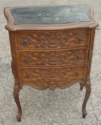 10: French style marble top cabinet
