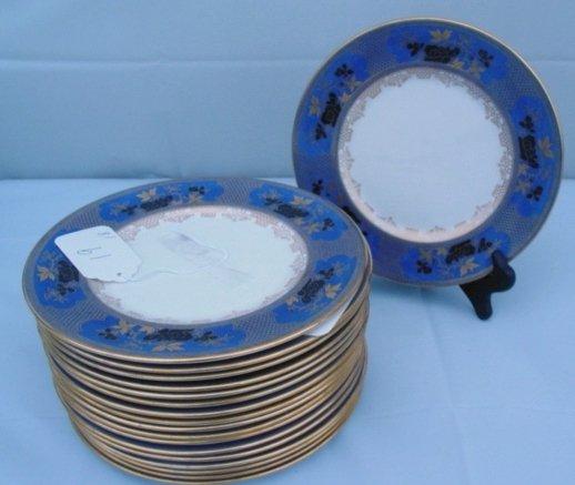 19: Royal Doulton sold by Tiffany plates