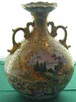"""10 1/2"""" scenic Nippon vase"""