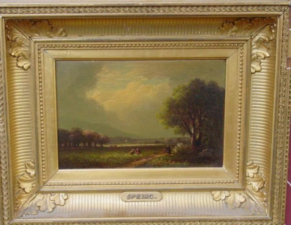 1: Benjamin Champney oil painting  New Hampshire Spring