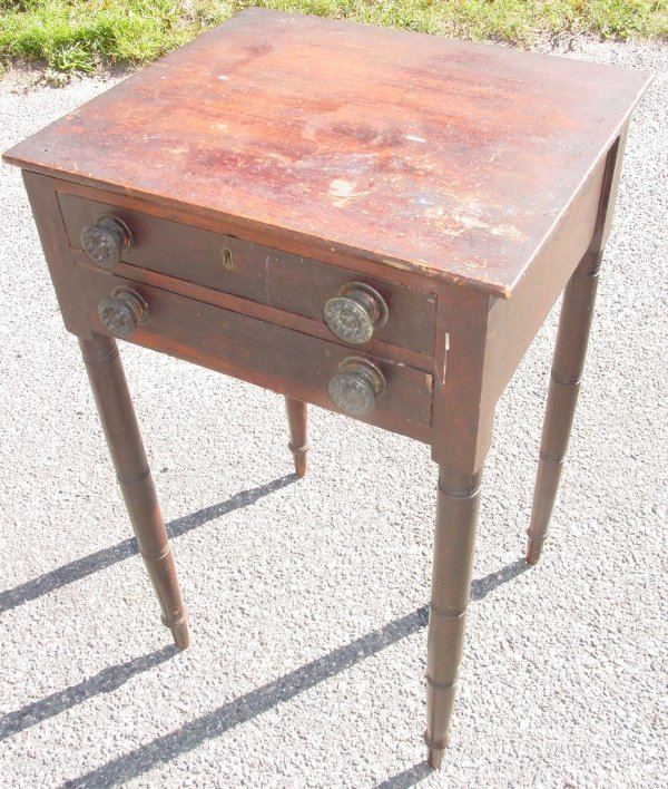 4: Period 2 drawer country Sheraton work stand