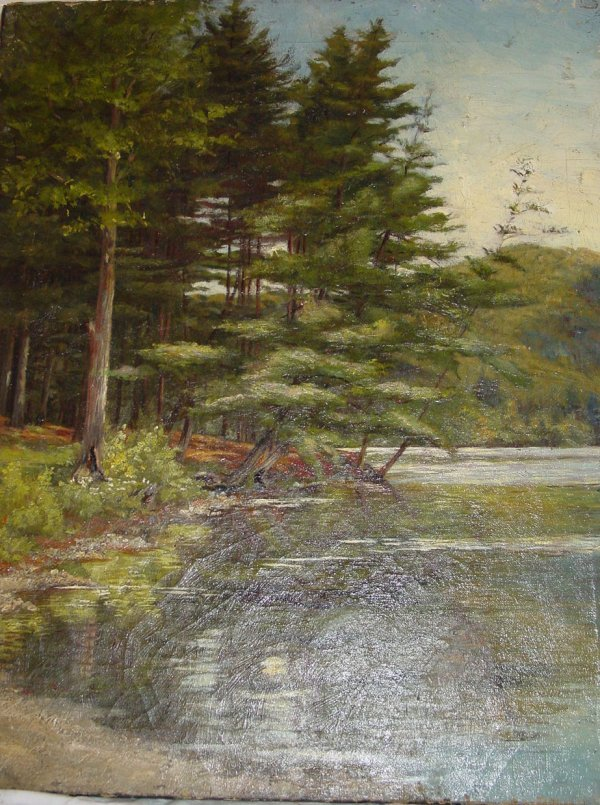 7: Attributed FH Shapleigh landscape oil on canvas
