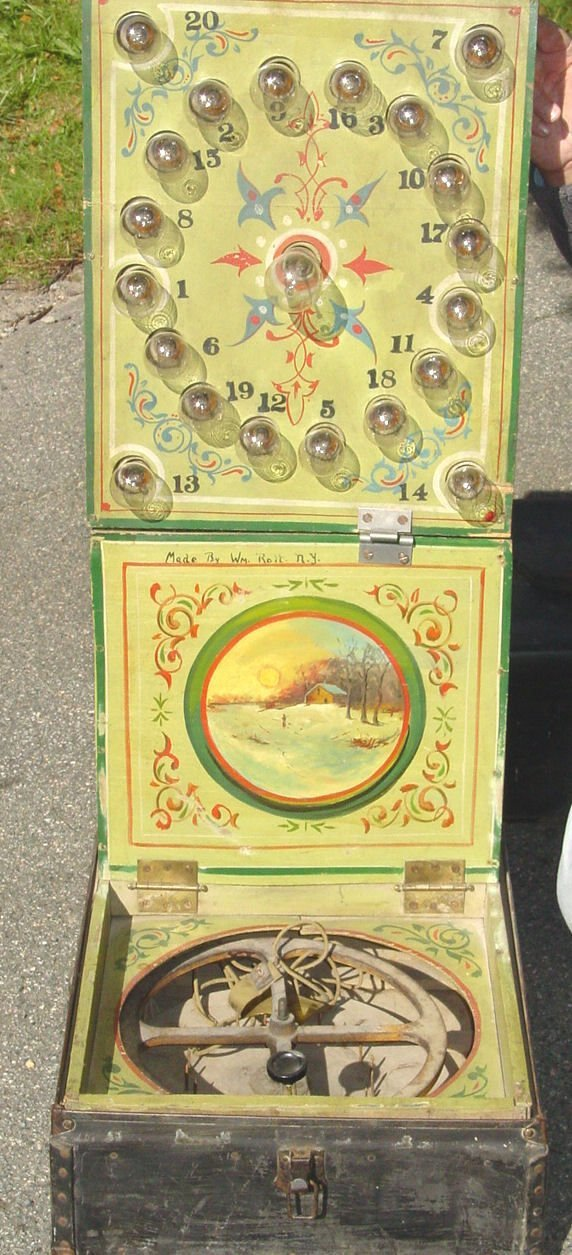 8: Antique c. 1890 electric traveling carnival game