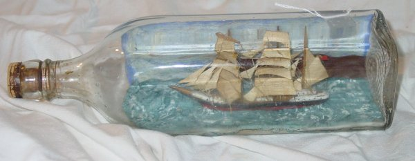 11: 3 masted ship in a bottle