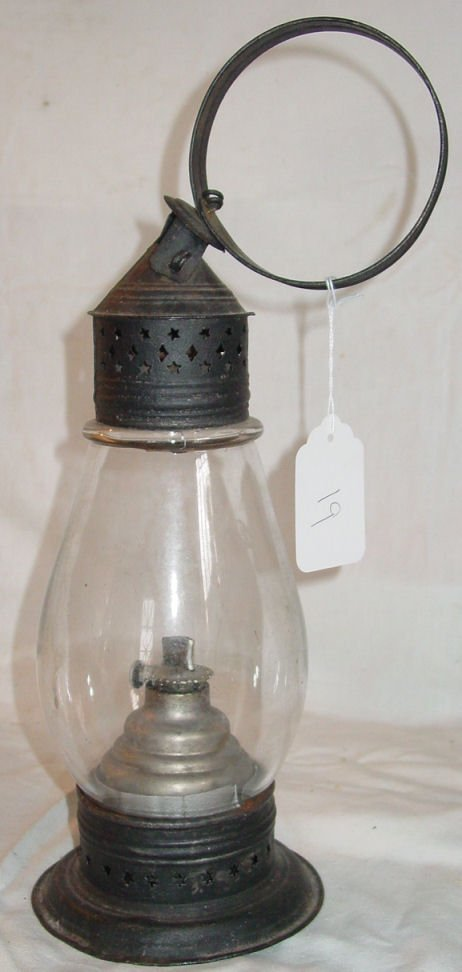 """19: Antique Skaters lantern, 18"""" tall, good condition"""