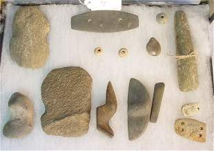 Early American Indian stone artifacts