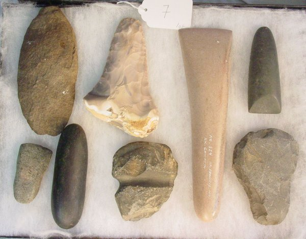 7: American Indian Pre-Algonquin and Missouri axe heads
