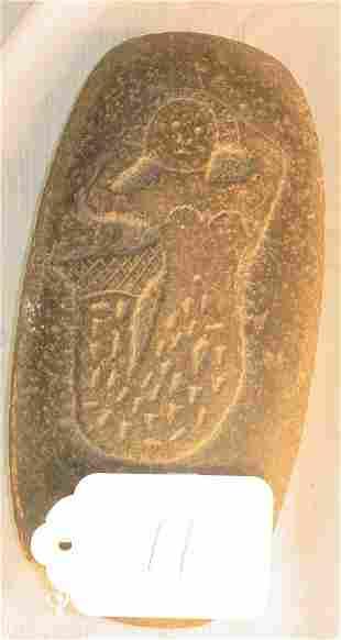 Unusual mermaid carved stone
