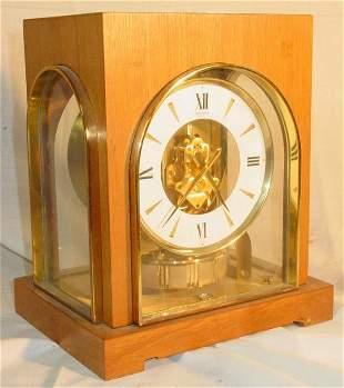 Gruen Gild Atmos clock with marquetry case