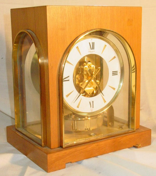 17: Gruen Gild Atmos clock with marquetry case