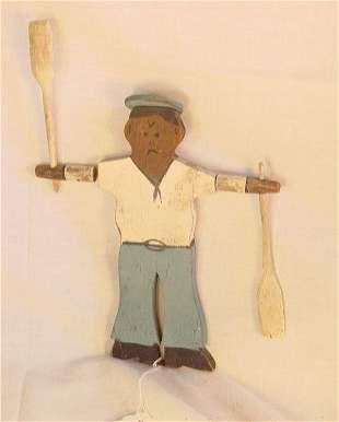 "9"" Antique Nantucket sailor boy whirligig"