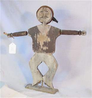 Antique Nantucket sailor boy whirligig by Chase