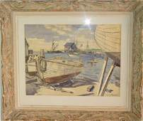 37 Julius Delbos watercolor Marthas Vineyard