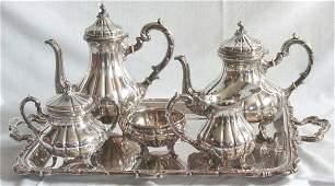 61 6 piece Sterling Silver teaset Peruvian silver 925