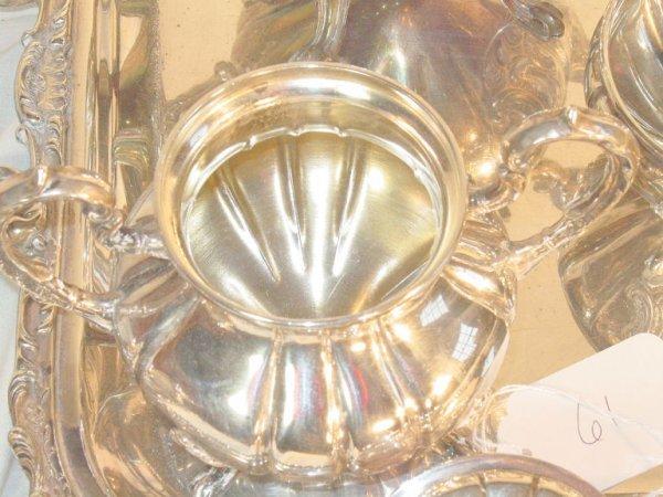 61: 6 piece Sterling Silver teaset, Peruvian silver 925 - 2