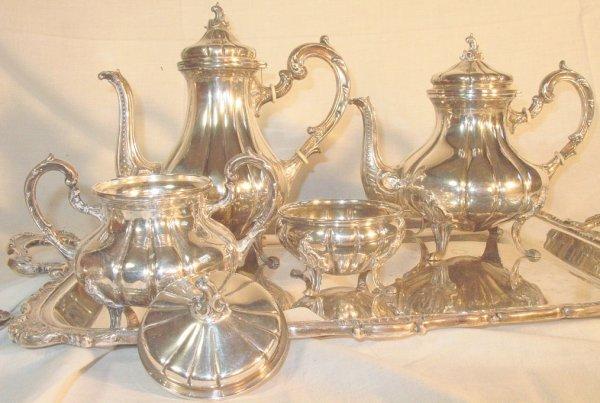 61: 6 piece Sterling Silver teaset, Peruvian silver 925 - 3