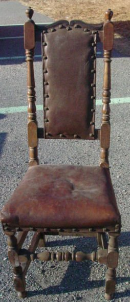 171: Early 18th c. William and Mary side chair, old res