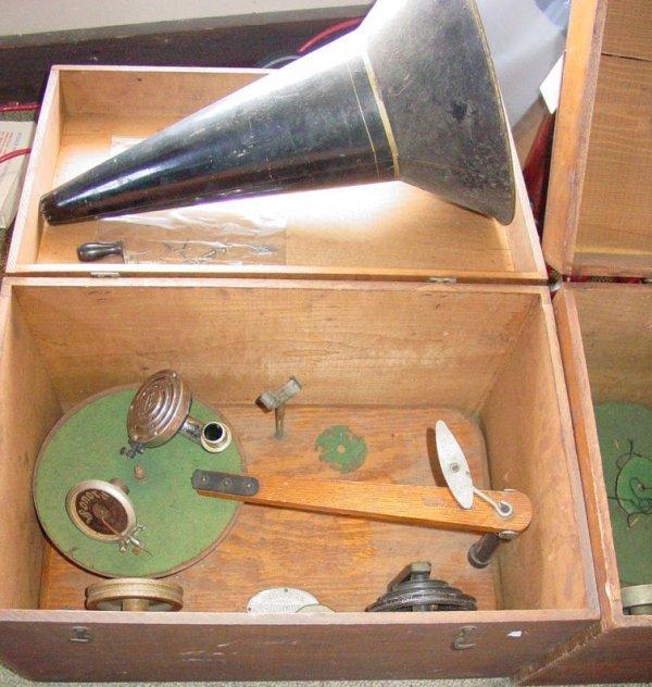 241: two cased Gramophones by Berliner Co.