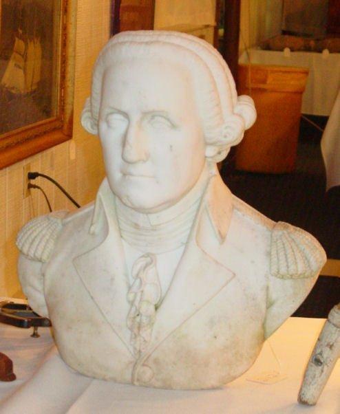 242: Victorian marble bust of George Washington