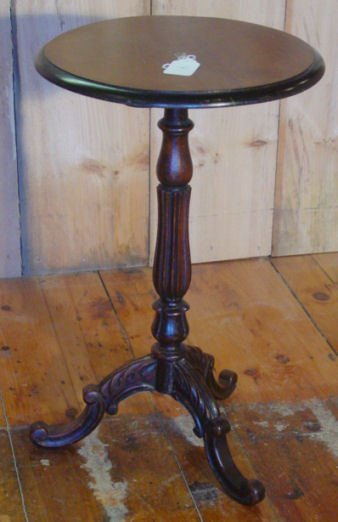 4: Victorian walnut candle stand
